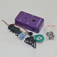 Loop 1590B bricolaje guitarra Looper pedales, pedales de aluminio Negro caja del interruptor de pie del pedal