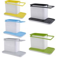 Wholesale 3 in Plastic Racks Colors Organizer Storage Kitchen Sink Utensils Holders Hop Pc Brand New