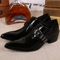 band icon - Free Shiping New Gothic British POP ICONS Leather Business Casual Men s Shoes Japanese Banquet Stage Leather Shoes Men