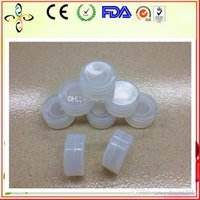 Wholesale FDA Food Grade ml Transparent Non stick Silicone Jar Covered Bustomized Bho Oil Container Clear Mini For Wax DHL free
