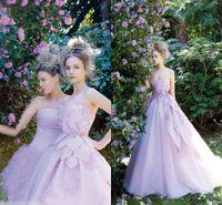 purple plus size wedding dresses - Purple Wedding Dress A Line Appliques Beads Sashes Back Lace Up Ruffles Glamorous Ruffles Organza Plus Size Wedding Dresses Hot