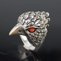 silver eagle - 12pcs fashion Vintage bronze men board refers to the domineering silver Eagle statement temperament ring