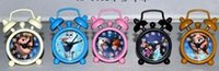 Wholesale 150pcs DHL elsa C lock Cartoon metal alarm clock Mini alarm clock small alarm clock Snow treasure BB alarm