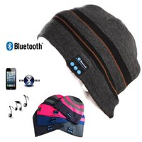 Wholesale New Hot Bluetooth Music Hat Soft Warm Beanie Cap with Stereo Headphone Headset Speaker Wireless Microphone