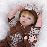 baby boy wedding cloth - 22 quot Reborn baby dolls Kid s toy silicone vinyl newborn baby birthday wedding gifts Photo Props Movie Kid s model Boy Doll