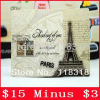 Wholesale Min Order is Sheets DIY Scrapbooking Paper Eiffel Tower Postcards Vintage Message Card Christmas Greeting Cards