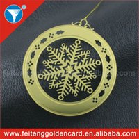 Wholesale 2014 Personalized Metallic Xmas Decors Round Exported Metal Christmas Ornaments for Christmas Tree