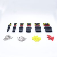 Wholesale 6 Sets Kit Pin Way Waterproof Electrical Wire Connector Plug In Sample Kits For Car