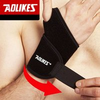 Wholesale 2 AOLIKES Gym Wrist Bands Sports Wristband Wrist Support Straps Wraps for Weight Lifting Protector