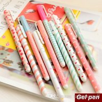 Wholesale 10 set Color Gel pen Kawaii Stationery korean flower Canetas escolar papelaria zakka Office material school supplies A5