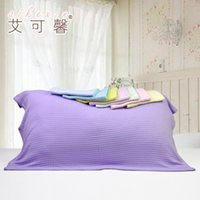 bamboo textile products - Bamboo Fiber Pillow Covers One Pair Summer Couple Pillow Towel and Cool In Summer Light Breathable Textile products ZCYL10003