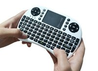 Wholesale cheap Fly Air Mouse Rii Mini i8 G Wireless Keyboard with Multi Media Remote Control Touchpad Handheld for Android TV Box Tablet DHL Free
