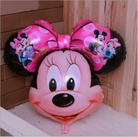 Wholesale Mickey mouse Aluminum Foil balloons mylar balloons size cm one design