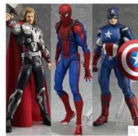 Wholesale Figma action figures Spiderman Thor Captain America action figure toy doll model for boy gifts popular children