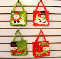 Wholesale Cloth Goody Bags - Christmas Treat Bags & Christmas Treat Holders Christmas Candy Bag Christmas Party Goody Bags Santa Pants Xmas Bag For Candy Gift m0487