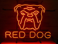 beer film - Red Dog Head Neon Sign Pet Shop Bar Beer Pub Store Display Advertising Film Cartoon Character Real Neon Light Sign quot X13 quot