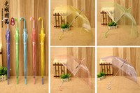Wholesale OP clear plastic umbrella colors mixed colors supported