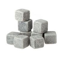 granite - 9pcs Whisky Whisky Ice Stones Set Drinks Cooler Cubes Beer Rocks Granite Pouch H12489
