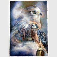 One Panel Oil Painting Impressionist Shore Art Modern Abstract Oil Paintings With High Quality Decorative Wall Painting Birds - eagle Mixed Order Free Shipping