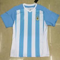 DHL el Envío Gratuito,Superior Tailandia Calidad de 2015 16 de la copa América Camisa de la Copa Argentina Casa Azul Jersey de Fútbol Camisetas de Messi