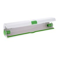 food wrap - New Plastic Cling Wrap Dispenser Preservative Film Cutter Food Fruit Vegetable Cooking Tool Kitchen Accessories H13646