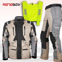 adventure touring - Motoboy new touring adventure motorcycle protective layer jacket amp pant suit high visible vest and waterproof and warm