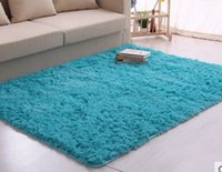 Wholesale 2015 Match All Room Dimensions Long Plush Shaggy Soft Carpet Area Rug Slip Resistant Door Floor Mat For Bedroom Living Room A3