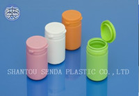 Wholesale snap secure easy pulling lid medicine bottle capsule pill bottle Pill Plastic Container candy plastic bottle