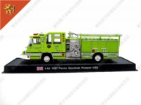 Cheap Free shipping, AMER COM English Fire truck 1:64 card model fire engin model Diecasts & Toy Vehicles