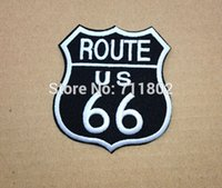 Wholesale ROUTE US iron on patches black cloth patch psg embroidered Badge Jacket Motorcycle Club Biker outlaw MC custom