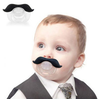 Wholesale Delicate Funny Mustache Baby Infant Pacifier Orthodontic Nipples Mustache Beard Hot Selling