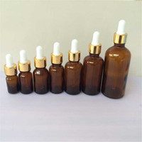 Wholesale 5ml ml ml ml ml ml ml Glass Brown Dropper Bottles Pipette Amber Esssentail Oil Bottles Liquid Jars Containers