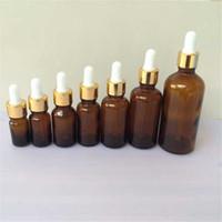 Wholesale 5ml ml ml ml ml ml ml Glass Brown Dropper Bottles Pipette Amber Esssentail Oil Bottles Liquid Jars Containers