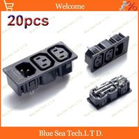 ac pdu - 20pcs AC A V IEC320 C14 with C13 PDU server equipment cabinet socket plug with fuse holder
