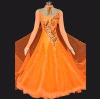Wholesale Dresses Dance Ballroom Customized Waltz Tango Modern Dancing Wear Women Standard Competition Dress