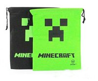 draw string bag - Minecraft Creeper drawstring bags Draw string bag Minecraft bags Storage bags environmental Minecraft Creeper