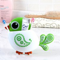 Wholesale Creative Bird Pattern Suction Cup Toothbrush Holder House Storage Tool MTY3