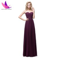 Wholesale Cheap Bridesmaid Dresses Pleat Off the Shoulder Sleeveless A Line Lace up Floor Length Stock Chiffon Formal Plus Size Bridesmaid Dress