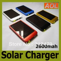 Wholesale Retail packaging mAh Solar Charger Portable USB Solar Power Charger mobile power For Mobile Phone MP3 MP4 battery charger