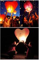 Bon Marché Lantern-20pcs coeur rouge Sky lanternes, Souhaitant feu Lanterne Kongming ballon chinois lanterne souhaitant lampe de fête d'anniversaire de mariage de Noël
