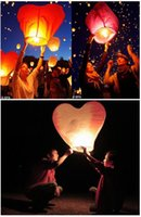 Cheap 20Pcs Red Heart Sky Lanterns,Wishing Lantern fire balloon Chinese Kongming lantern Wishing Lamp Birthday Christmas Wedding Party