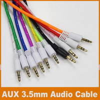 Wholesale Braided Woven AUX Audio Cable M FT mm Jack Stero Car Aux Audio Extention Cables For phone PC MP3 Headphone Speaker OM CD9