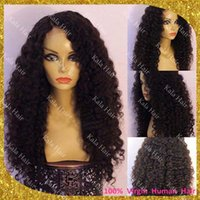 Wholesale Fast Delivery Afro Curly Human Hair Lace Front Wigs Glueless Virgin Hair Kinky Curl Full Lace Wig With Baby Hair Around