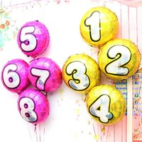 balloon colours - 18inch Laser Dot colours digit Wave point number to foil balloon birthday party Digital balloon wedding Christmas decoration