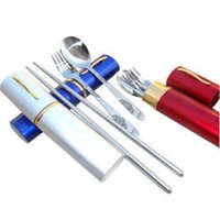 big fork spoon - big japanese style portable chopsticks spoon fork combination ssat stainless steel eco friendly spoonfuls chopsticks fork