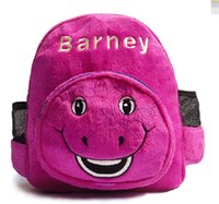 barneys bag - Barney soft plush child school Shoulder bag cute Backpack CM CM cosplay Cartoon Anime