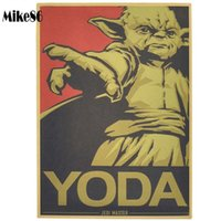 bamboo home bar - Mike86 Vintage YODA Movie Poster Retro Painting art Wall home Bar Party Decoration X42 CM BM