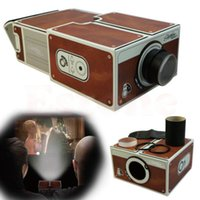 Wholesale Cardboard Smartphone Projector DIY Portable Mobile Phone mini Cinema Theater For iphone plus