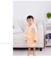 Wholesale Kids Bathrobe Hooded Wholesale - Children Pajamas For 2105 Autumn Winter Kids Clothing Children Bathrobe Flannel White Nightgown Leisure Wear Pajamas Thickening CD118