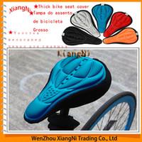 ¡Envío gratis! 3 Color Nuevo Cuero Piezas Mountain Bike Ciclismo Saddles camino cómodo cojín suave cojín de bicicletas para Seat Cover $ 18Nadie trac